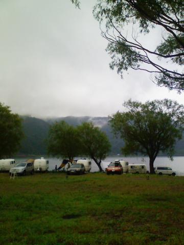 自由キャンプ場にいます